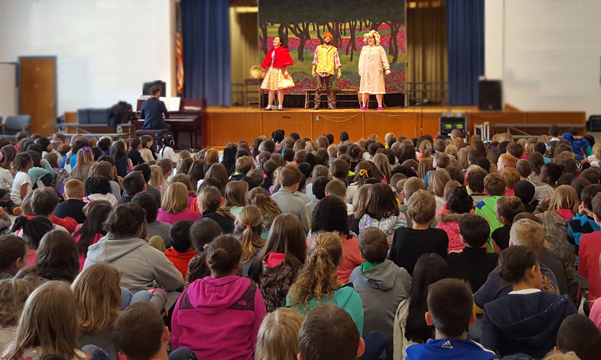 Area students enjoy a performance by the Virginia Opera.